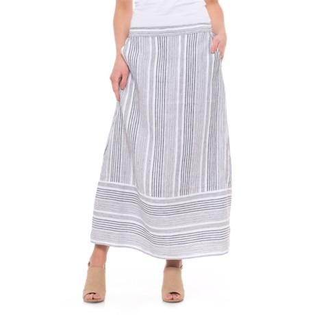 C&C California Striped Linen Skirt (For Women)