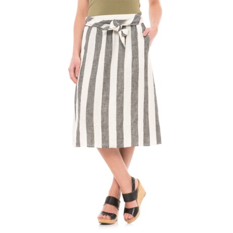 Catherine Catherine Malandrino A-Line Linen Skirt (For Women)