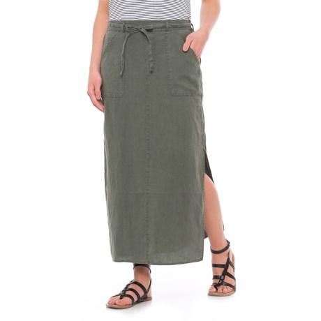 Artisan NY Linen Midi Utility Skirt (For Women)