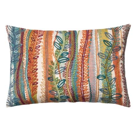 "Loloi Multi-Leaf Decor Pillow - 13x21"""