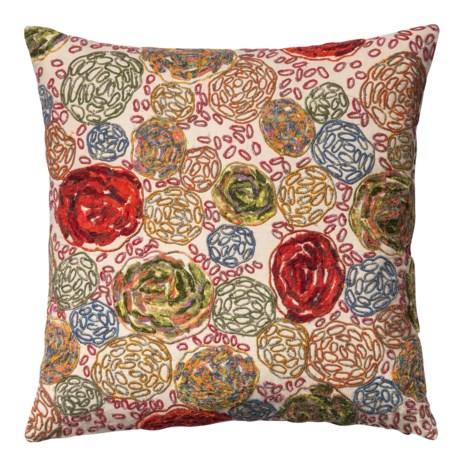 """Loloi Cotton Multi-Floral Decor Pillow - 22x22"""""""