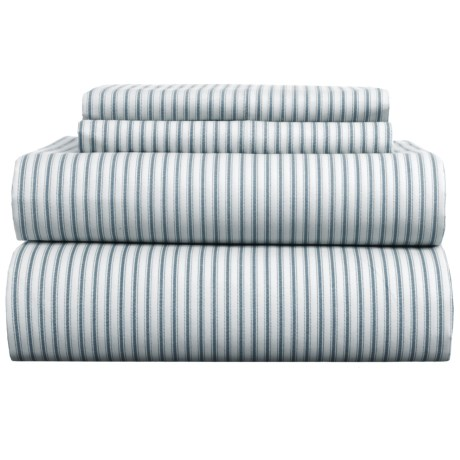 EnVogue Ticking Twill Stripe Sheet Set - Queen