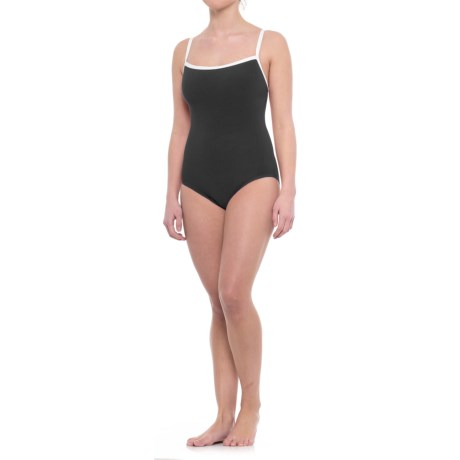 Penbrooke Faille Basic One-Piece Swimsuit - Fully Lined (For Women)