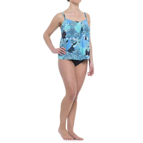 Penbrooke Floral Tankini Top - Built-In Underwire Bra (For Women)