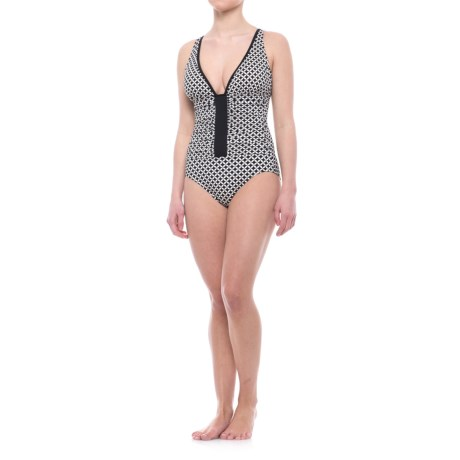 Penbrooke Center Spot Mio One-Piece Swimsuit - Padded Cups (For Women)