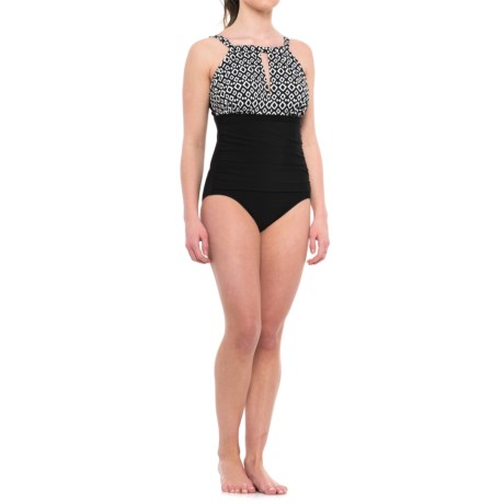 Penbrooke Mio High-Neck One-Piece Swimsuit (For Women)