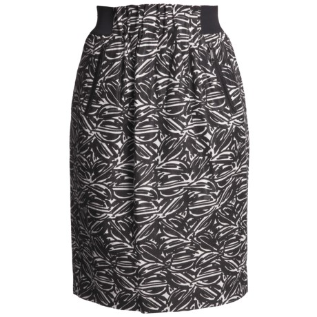 Lafayette 148 New York Jacquard Skirt - Linen-Rich, Paperbag Waist (For Women)