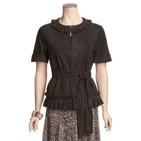 Lafayette 148 New York Goat Suede Karina Jacket - Short Sleeve (For Women)