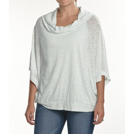 Agave Nectar Cinsaut Poncho - Cowl Neck, 3/4 Sleeve (For Women)