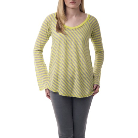 Agave Denim Viognier Butterfly Shirt - Striped (For Women)