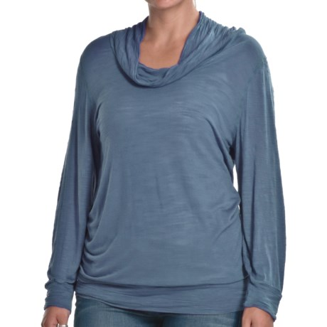 Agave Nectar Palomino Cowl Neck Shirt - Long Sleeve (For Women)