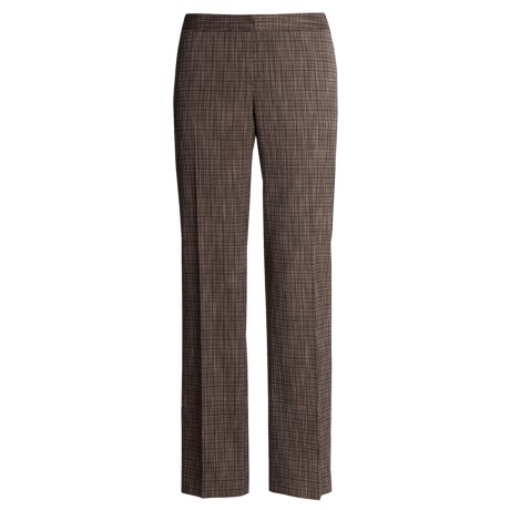 Lafayette 148 New York Bedford Pants - Wool Blend, Grid Weave (For Women)