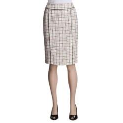Lafayette 148 New York Tweed Skirt - Double Back Vent (For Women)