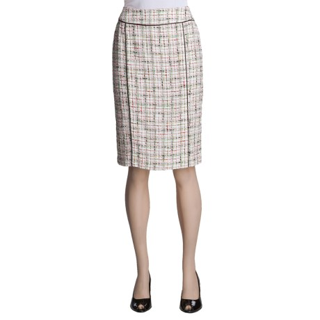 Lafayette 148 New York Tweed Skirt - Double Back Vent (For Women)