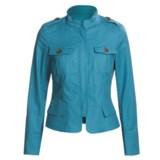 Lafayette 148 New York Metropolitan Jacket - Band Collar, Zip Front (For Women)