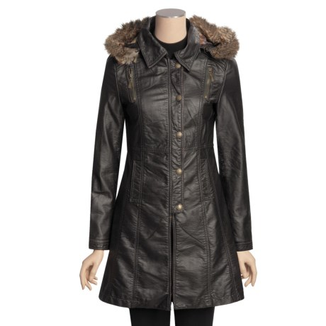 MontanaCo Faux-Leather Jacket - 3/4 Length (For Women)
