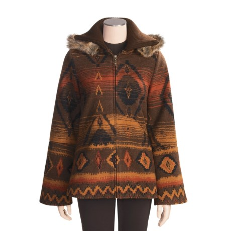 MontanaCo Swing Fleece Coat - Swing Collar (For Women)