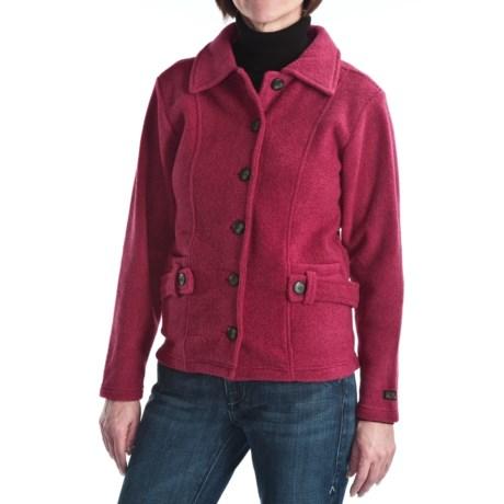 ALPS Kianna Fleece Jacket - Button Front (For Women)