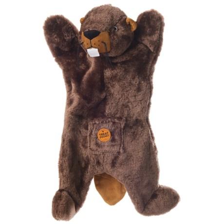 Aussie Naturals Biggie Beaver Dog Toy - Squeaker, Stuffing Free
