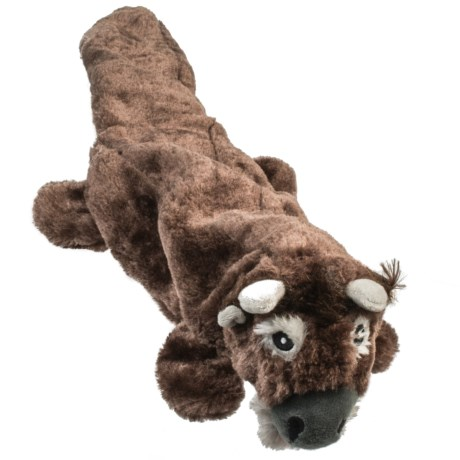ABO Gear Lobbie Bison Dog Toy - Stuffing Free