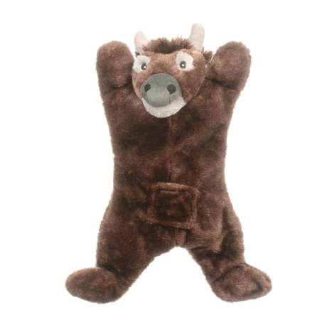 ABO Gear Biggie Bison Dog Toy - Stuffing Free