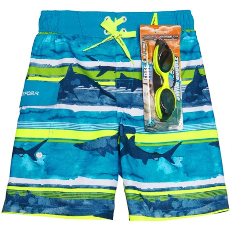 ZeroXposur Boardshorts with Goggles - UPF 50+ (For Little Boys)