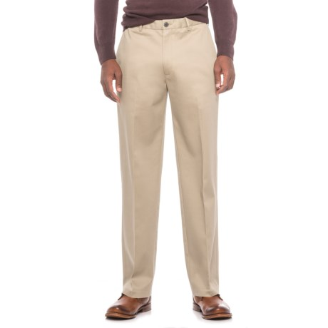 Specially made Flat-Front Classic Fit Pants (For Men)