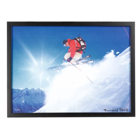 Luxe West Fairchild Paris Modern Skier Cruising Print - 17x23""