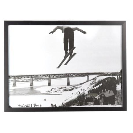 """Luxe West Fairchild Paris Vintage Long Jump Skier Print - 17x23"""""""