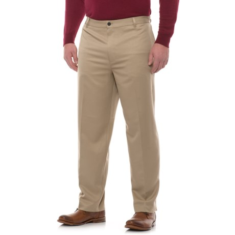 Specially made Classic Fit Cotton Flat-Front Pants (For Men)