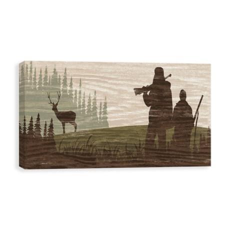 "Canvas Hunters 1 Silhouette Art Print - 12x24"""