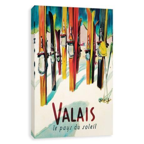 "Artissimo Designs Valais Ski Vintage Art Print - 20x30"""