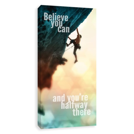 Artissimo Designs Believe You Can Art Print - Canvas, 12x24""