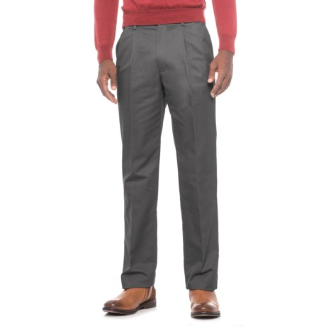 Specially made Traditional Fit Cotton Pleated Pants (For Men)
