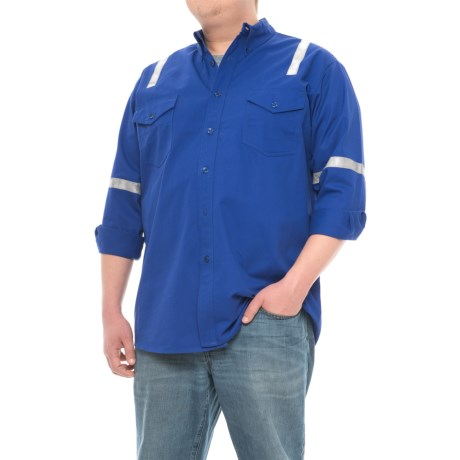Walls Button-Front Twill Uniform Shirt - Long Sleeve (For Big and Tall Men)