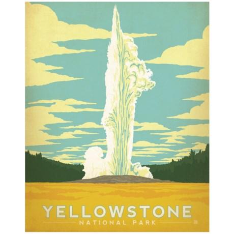 "Portfolio Arts Group Yellowstone National Park Old Faithful Print - 16x20"""