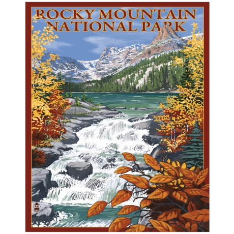 Portfolio Arts Group Rocky Mountain National Park Rapids Print - 16x20""