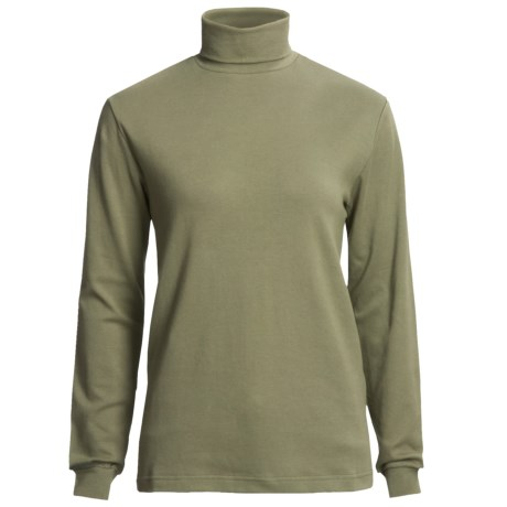 Woolrich Turtleneck Shirt - Interlock Cotton, Long Sleeve (For Women)