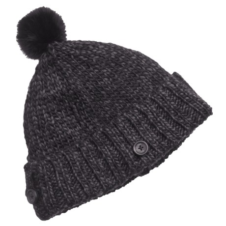 Lole Two-Tone Beanie Hat with Pompom (For Women)