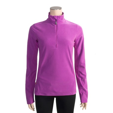 Lole Liven Zip Neck Shirt - Recycled Micropolar Fleece, Long Sleeve (For Women)