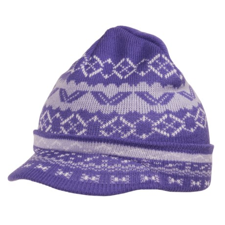 Jacob Ash Attakid Cascade Visor Cap - Jacquard Knit (For Girls)