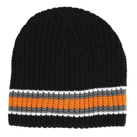 Jacob Ash Attakid Waffle-Knit Stripe Beanie Hat (For Boys)