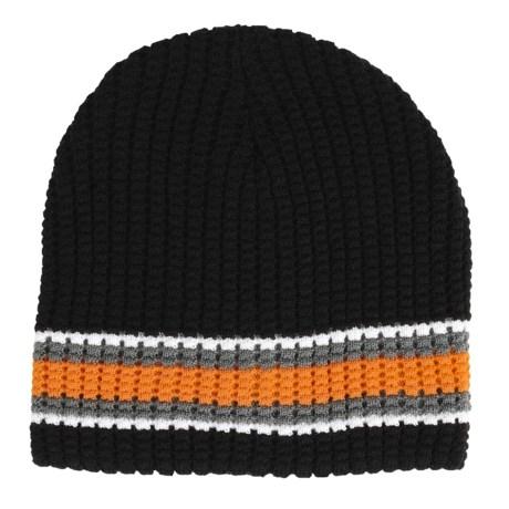 Jacob Ash Attakid Waffle-Knit Stripe Beanie Hat (For Boys)