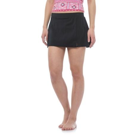 Caribbean Joe Side Slit Swim Skirt (For Women)