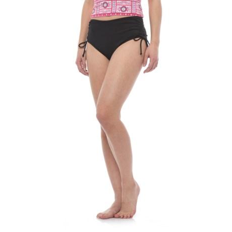 Caribbean Joe Tummy Control Side Tie Bikini Bottoms (For Women)