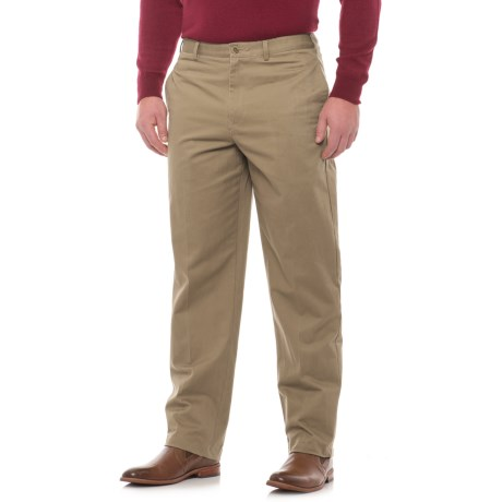 Specially made Traditional Fit Flat-Front Pants (For Men)