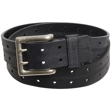 Carhartt Double-Perforated Leather Belt (For Men)