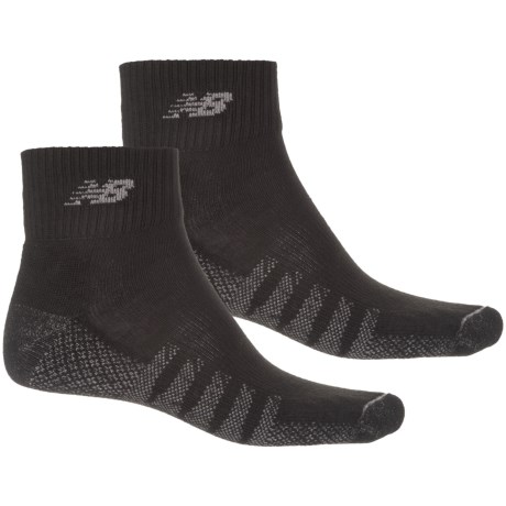 New Balance Quarter Running Socks - 2-Pack, Ankle (For Men)
