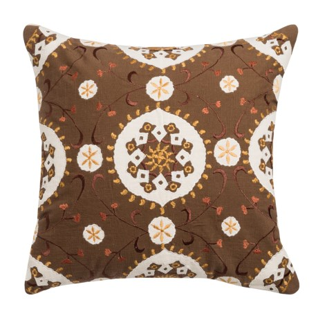 Rizzy Home Patterned Embroidery Pillow - 18x18""
