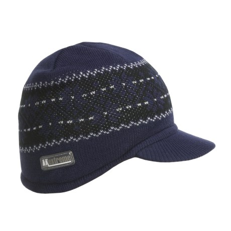 Jacob Ash Attakid Knit Jacquard Contour Visor Beanie Hat (For Toddler Boys)